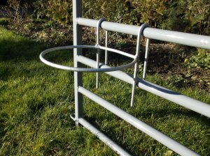 Hook on Bucket Holder/ Ring/Bracket,  1.25 Gall. Rigid. Galvanised.